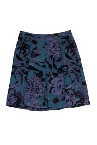 Tory Burch Green Floral Skirt Purple