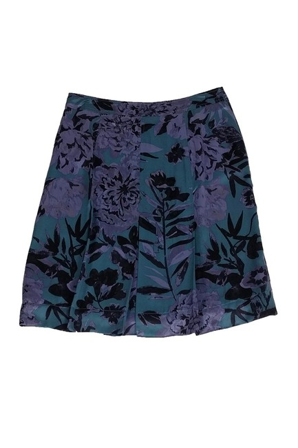 Tory Burch Green Floral Skirt Purple Image 1