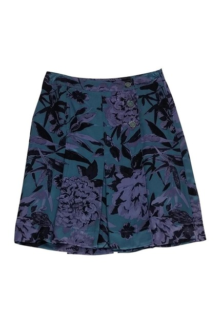 Tory Burch Green Floral Skirt Purple Image 2