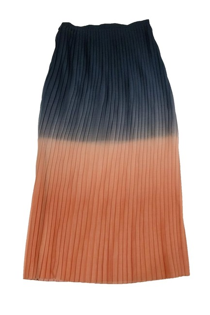 Cynthia Rowley Ombre Pleated Maxi Skirt Image 1