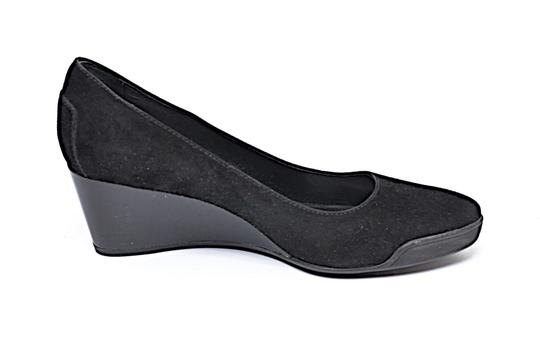 Tod's Patent Leather Suede Black Wedges Image 1