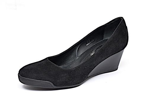 Tod's Patent Leather Suede Black Wedges Image 4