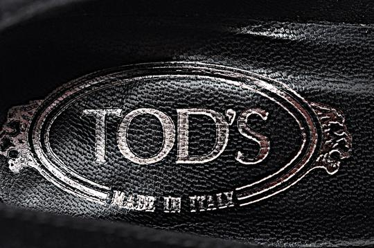 Tod's Patent Leather Suede Black Wedges Image 8