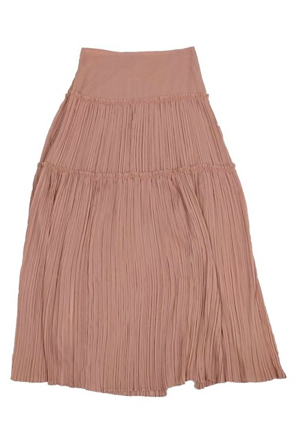 INTERMIX Pleated Maxi Skirt Pink Image 1