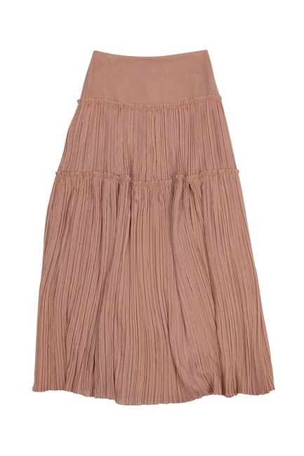 INTERMIX Pleated Maxi Skirt Pink Image 2