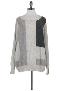 Vince Grey Patterned Cashmere Sweater