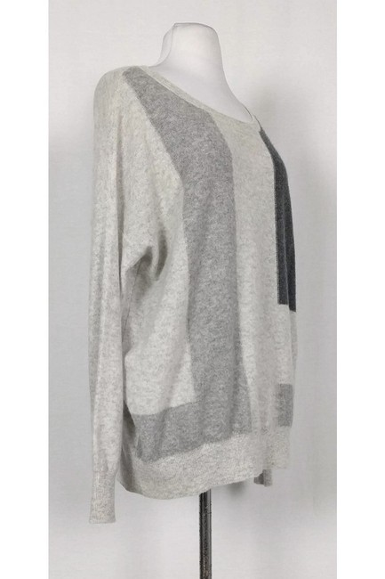 Vince Grey Patterned Cashmere Sweater Image 1
