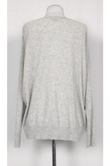 Vince Grey Patterned Cashmere Sweater Image 2