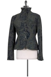 Ralph Lauren Blue Grey Paisley Wool Blazer