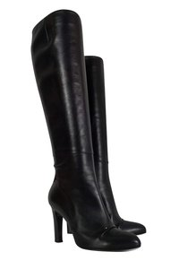 Roger Vivier Leather Tall Black Boots