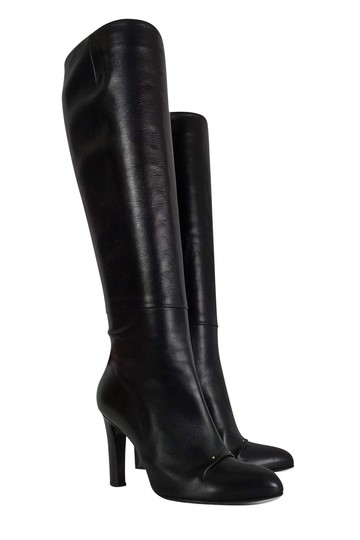 Roger Vivier Leather Tall Black Boots Image 0