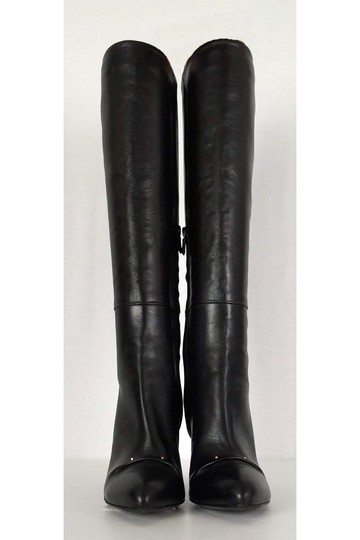 Roger Vivier Leather Tall Black Boots Image 1