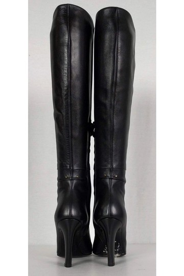 Roger Vivier Leather Tall Black Boots Image 3