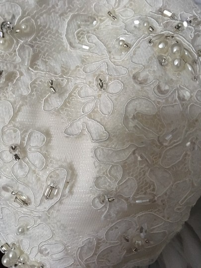 Sincerity Bridal Ivory Tulle Lace Pearl 3734 - New and Never Worn Traditional Wedding Dress Size 6 (S) Image 1