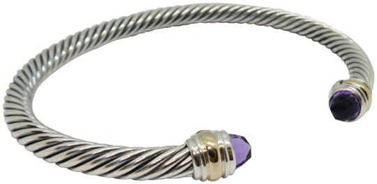 David Yurman 5mm cable bracelet with gold trim large size Image 0