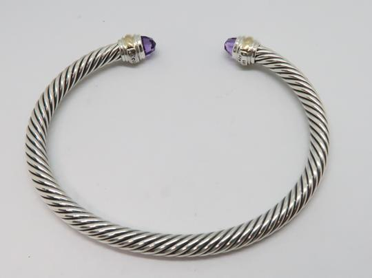 David Yurman 5mm cable bracelet with gold trim large size Image 2
