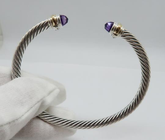 David Yurman 5mm cable bracelet with gold trim large size Image 3