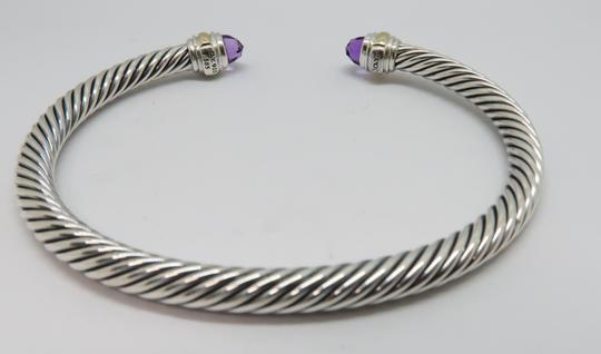 David Yurman 5mm cable bracelet with gold trim large size Image 5