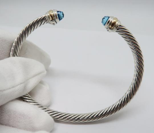 David Yurman 5mm cable bracelet with gold trim large size Image 4