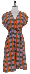 Tucker short dress Abstract Square Pattern Wrap on Tradesy