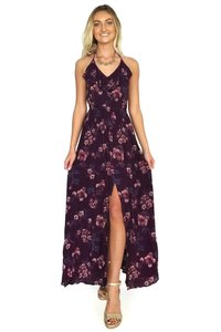 purple Maxi Dress by En Creme Eyes On The Ties Maxi