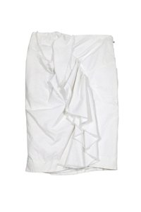 Thakoon Ruffle Pencil Skirt White