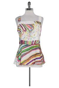 Tracy Reese Colorful Tieback Top