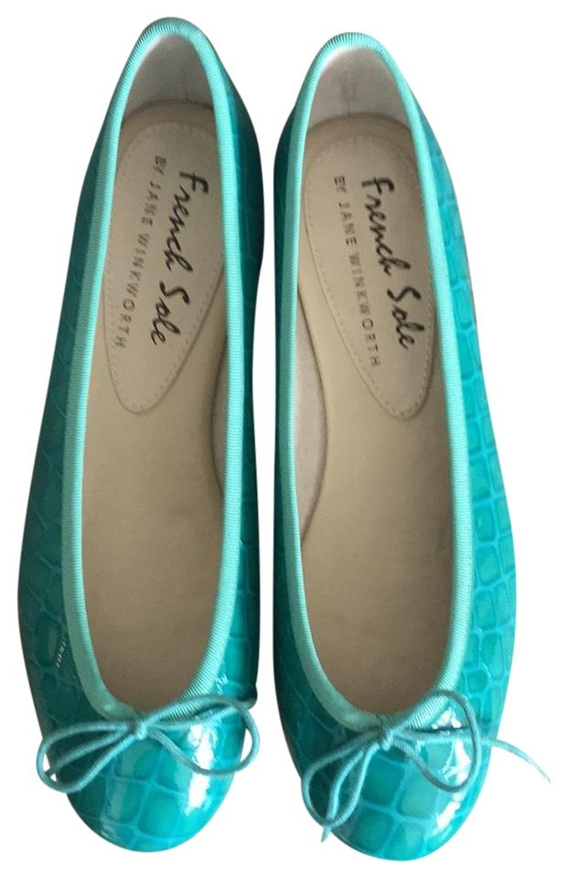 c4c06c087f274 French Sole Turquoise Henrietta Flats Size EU 38.5 (Approx. US 8.5 ...