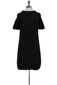 Bottega Veneta short dress black Speckled Wool Shift on Tradesy