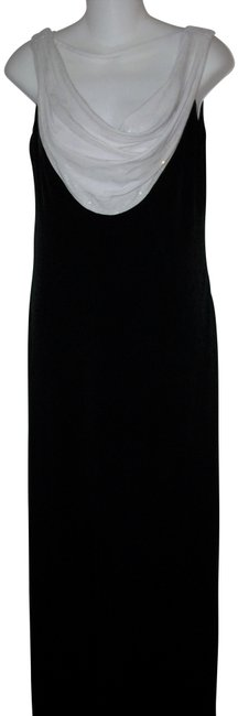 Item - Black and White Sleeveless Evening Long Cocktail Dress Size 8 (M)
