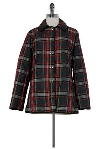 Coach Plaid Quilted Puffer Coat