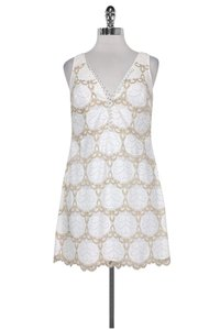 Lilly Pulitzer short dress white Gold Lace on Tradesy