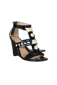 Jean-Michel Cazabat Patent Leather Black Wedges