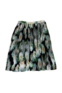 Adam Lippes Pleated Floral Skirt
