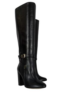 Ava & Aiden Leather Tall Black Boots