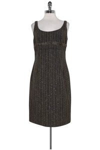 Carmen Marc Valvo short dress Brown Tweed on Tradesy