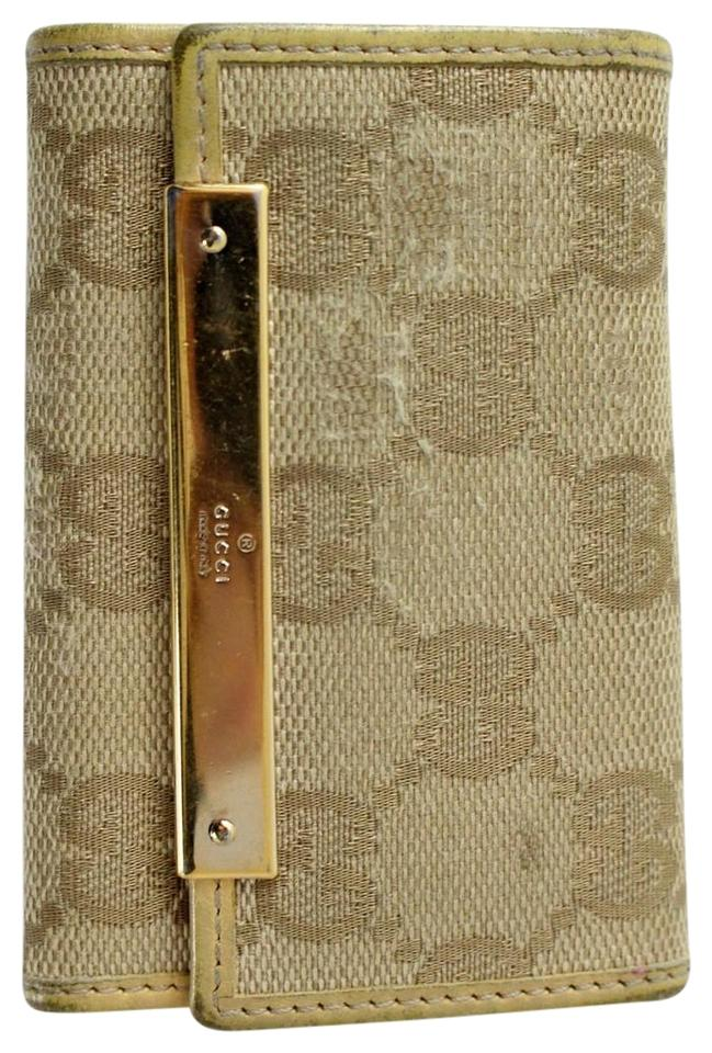 56985dc8367e Gucci Tan Monogram Key Holder Wallet - Tradesy
