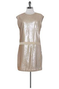 Halston short dress Gold Champagne Sequin Shift on Tradesy