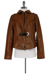 Soia & Kyo Cognac Leather Brown Jacket