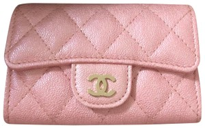 Chanel 19S Iridescent Pink Classic Card Holder