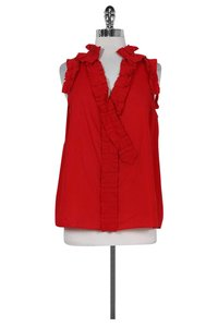 Marc by Marc Jacobs Ruffled Top red