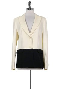 Max & Co. Cream Black Blazer