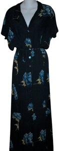 Blue Floral Maxi Dress by Karen Kane Vintage Plus-size