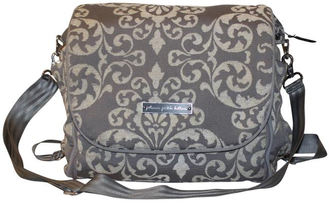 Item - Backpack Intermix with Changing Pad Gray and Ivory Jacquard Diaper Bag