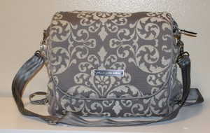 Petunia Pickle Bottom gray and ivory Diaper Bag