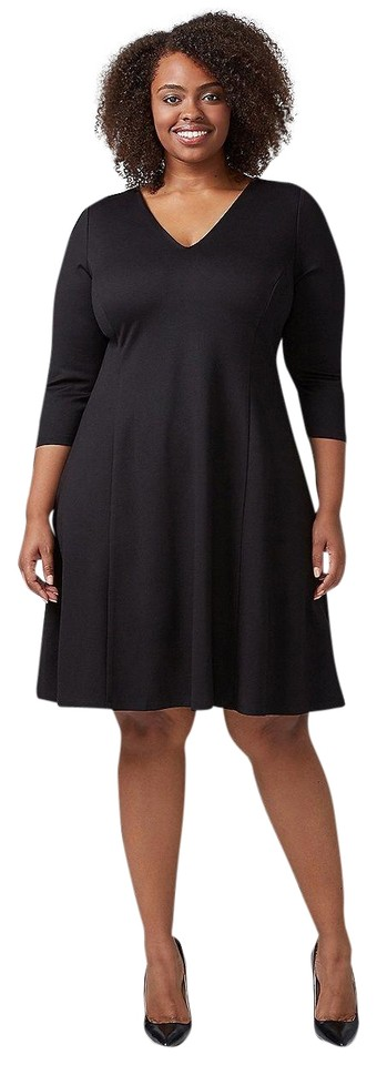 Lane Bryant Black Fit & Flare Short Night Out Dress Size 26 (Plus 3x) 45%  off retail