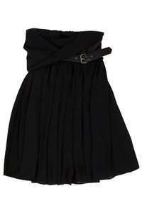The Kooples short dress Black Strapless on Tradesy