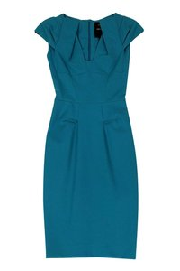 Roland Mouret short dress Netaporter By Rm Teal Cap Sleeve on Tradesy