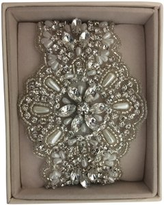 Anna Campbell Pear and Silver beaded cuff