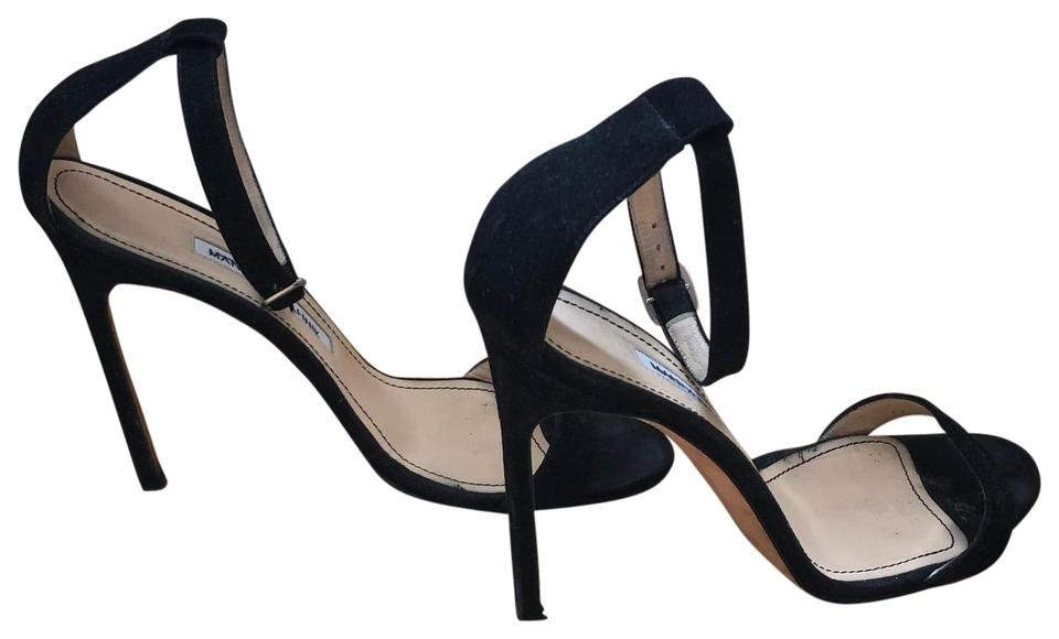6bec9b13180 Manolo Blahnik Black Suede Ankle Strap Stilettos Formal Shoes Size ...